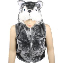 12 Units of Kids Cute Animal Vest With Animal Hat - Kids Vest