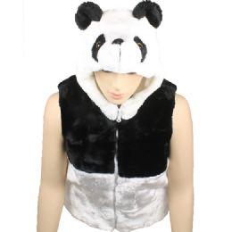 12 Units of Kids Cute Panda Vest With Panda Hat - Kids Vest