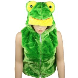 12 Units of Kids Cute Frog Animal Vest With Frog Hat - Kids Vest