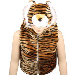 12 Units of Kids Tiger Jacket With Hat - Kids Vest