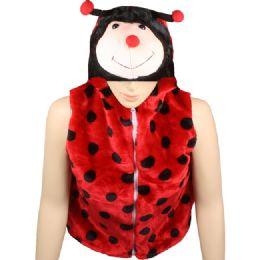 12 Units of Kids Lady Bug Jacket With Hat - Kids Vest
