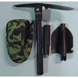 """36 Units of 16"""" Shovel & Pick With Carrying Case - Camping Gear"""