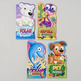 96 of Board Books Mini Baby Animals 4 Asst Ocean,reptile,pet And Polar In Pdq