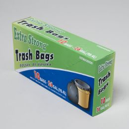 120 Units of Trash Bags 10 Ct - 26 Gal Black - Garbage & Storage Bags