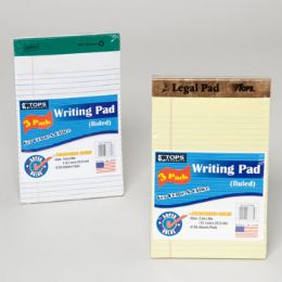 96 Units of Tops Writting Pad 3pk - Sketch, Tracing, Drawing & Doodle Pads