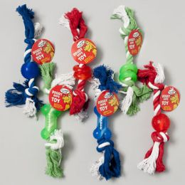 84 Units of Dog Toy Double Notted Rope/ Rubber Chews - Pet Toys