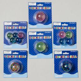 108 Units of Bouncing Ball 6ast Styles Rainbow/glitter - Darts & Archery Sets