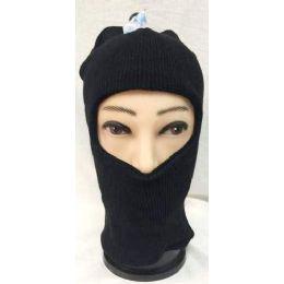 72 Units of Unisex Black Ski Hat/mask One Size Fits All - Unisex Ski Masks