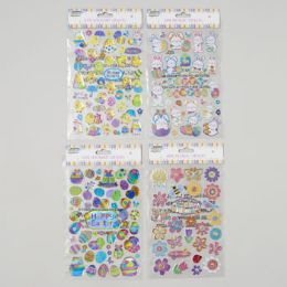 96 of Sticker Easter 3ast 3d Designs 50ct Holographic/28ct Metallic Easter Pb Insert Card