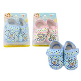 72 Units of Baby Shoe With Bear Design - Toddler Footwear