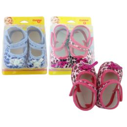 72 Units of Baby Shoe Butterfly Design - Toddler Footwear