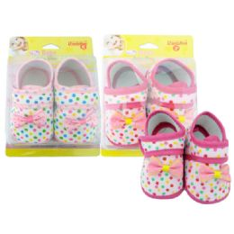 72 Units of Baby Shoe With Bow - Toddler Footwear