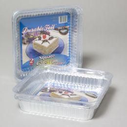 108 Units of Aluminum Cake Pan Square 2 Pack - Aluminum Pans