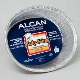 96 Units of Aluminum Foilware Roasting Pan Large 18 X 13 X 3 Bake King - Aluminum Pans