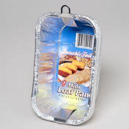 12 Units of Aluminum Loaf Pan Mini 5 Pack - Aluminum Pans