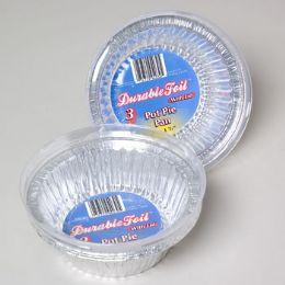 12 Units of Aluminum Pot Pie Pan With Lid - Aluminum Pans