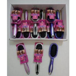 """24 Units of 7"""" Cushion Hairbrush - Brushes"""