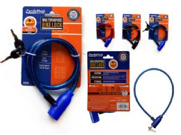 96 Units of Bicycle Cable Lock - Padlocks and Combination Locks