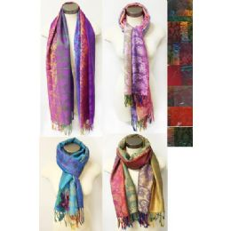 12 of MultI-Colors Paisley Floral Pashmina Assorted Colors