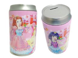 """48 Units of Saving Bank Tin 3asst Princessonly 3.75diax7.75""""h< Br/ - Coin Holders & Banks"""
