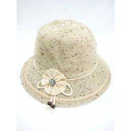 36 Wholesale Ladies Summer Hat Beige Color