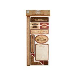 144 of Heritage SelF-Adhesive Cardstock DiE-Cuts