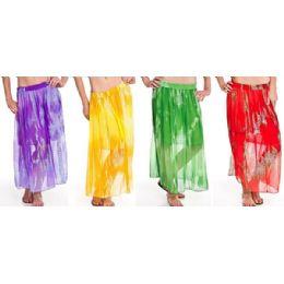12 Units of Chiffon Tie Dye Skirt Adjustable Waist Tie - Womens Skirts