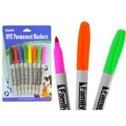 144 Bulk 8pc Asst Color Permanent Marker