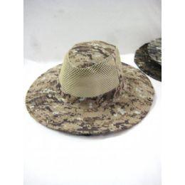 48 Units of Men's Camo Mesh Summer Hat - Hunting Caps