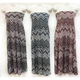 12 Units of Chevron Print Maxi Skirts Assorted - Womens Skirts