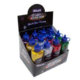 72 Units of Bazic 120 Ml Classic Color Glitter Glue - Craft Glue & Glitter