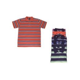 36 of Mens Striped Tee Shirts Assorted Color