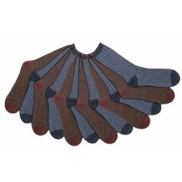 60 Wholesale Mens 92% Cotton Ribbed Crew Socks