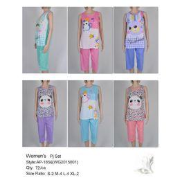 72 Units of Ladies Summer Pj Set - Women's Pajamas and Sleepwear