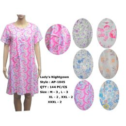 72 Units of Ladies Summer Nightgown Assorted Styles - Women's Pajamas and Sleepwear