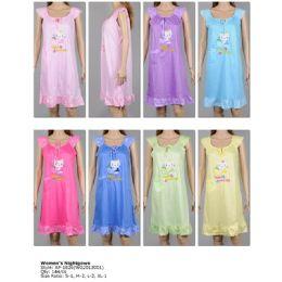 72 Units of Ladies Sleeveless Summer Nightgown Assorted Styles - Women's Pajamas and Sleepwear
