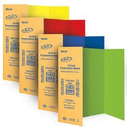 "24 Bulk Bazic 36"" X 48"" Assorted Color TrI-Fold Corrugated Presentation Board"