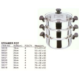4 Units of 32 Cm Steamer Stainless Steel - Stainless Steel Cookware