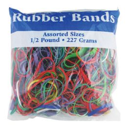 72 Bulk Assorted Dimensions 227g/ 0.5 Lbs. Rubber Bands