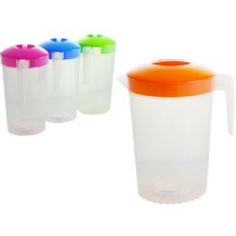 12 Units of Water Pitcher With Neon Tops - Kitchen Gadgets & Tools