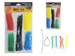 144 Units of 250pc Asst Color Cable Ties - Wires