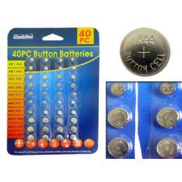 144 Bulk 40pc Batteries Button set