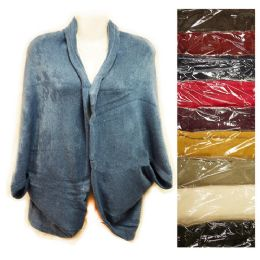 12 of Knit Woman Sweater Wrap Shawl Jacket Assorted Colors