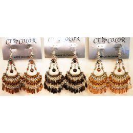 96 Units of Bohemian Chandelier Long Dangle Earrings - Earrings