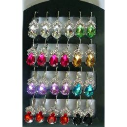 72 Units of Tear Drop Shape Fashion Earring - Earrings