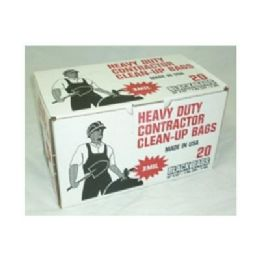 """12 Units of Contractor Trash Bags 20ct 32x50"""" - Garbage & Storage Bags"""