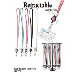 48 Wholesale Retractable Lanyards