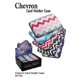 24 Bulk Chevron Card Holder Case