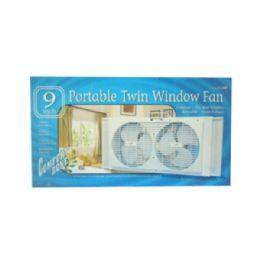 """6 of 9"""" Twin Portable Window Fans"""