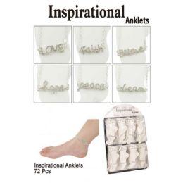 72 Units of Inspirational Anklets - Ankle Bracelets